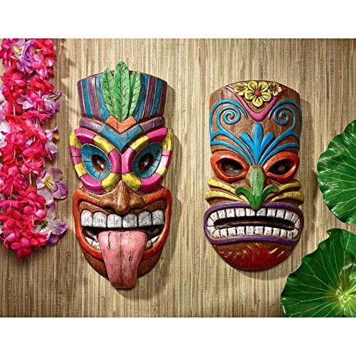 Design Toscano Tiki Gods of The Hawaiian Isle Plaques, Full Color]()