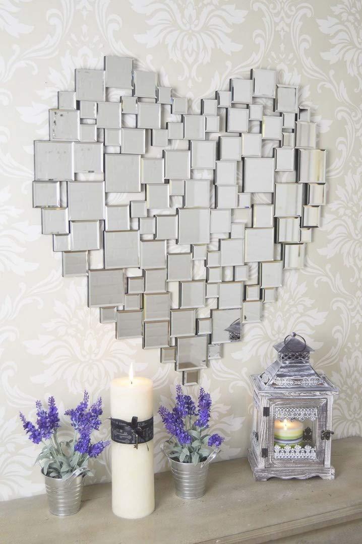 MirrorOutlet Schöner großer modernen Herzen Form Venezianischer Wandspiegel 2 81 80 cm