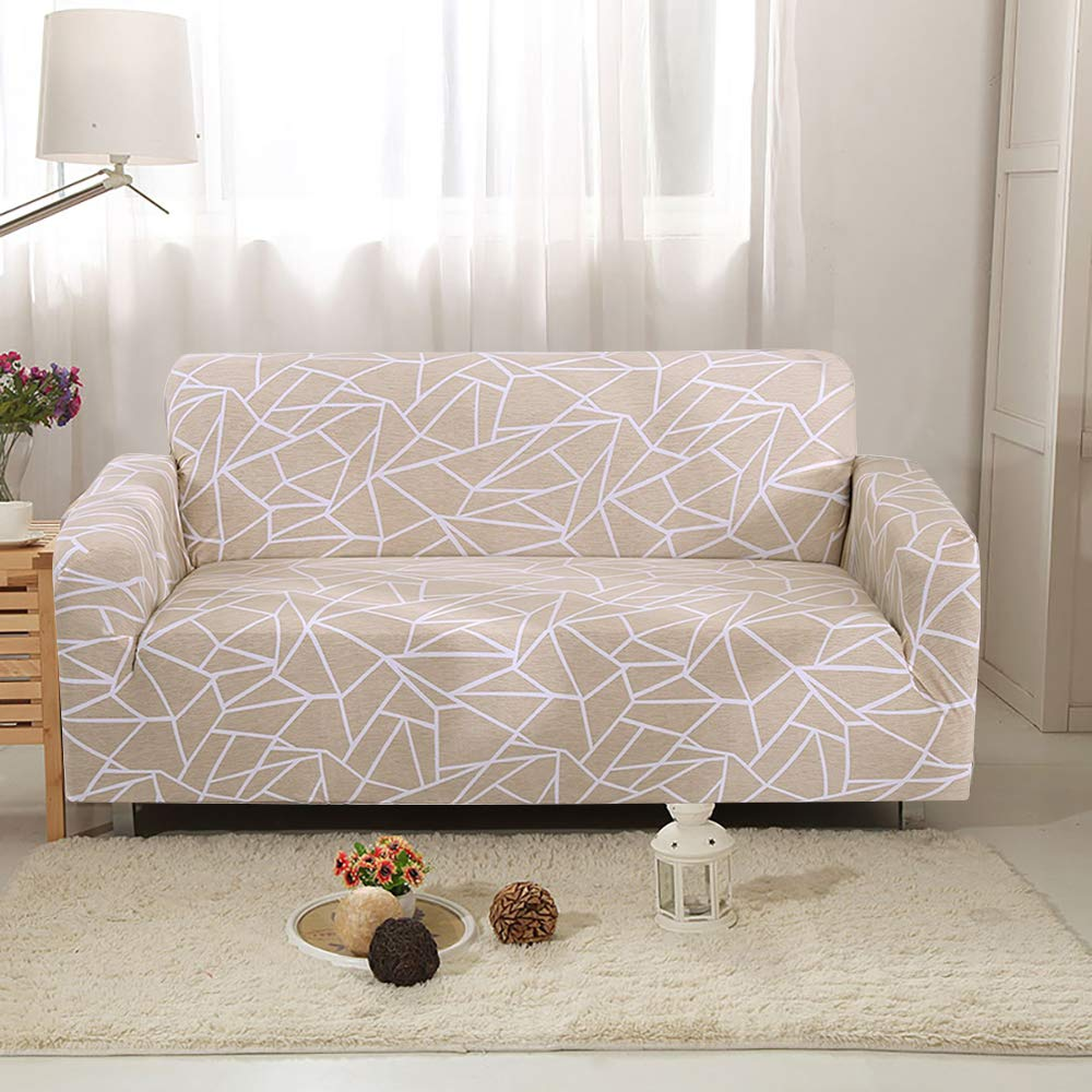 willkey Stretch Sofa Slipcover 1 Seater Spandex Polyester Fabric Easy Fit Couch Covers Sofa Furniture Protector