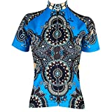 QinYing Women Patterns Stylish Breathable Bicycle Jersey Long Sleeve