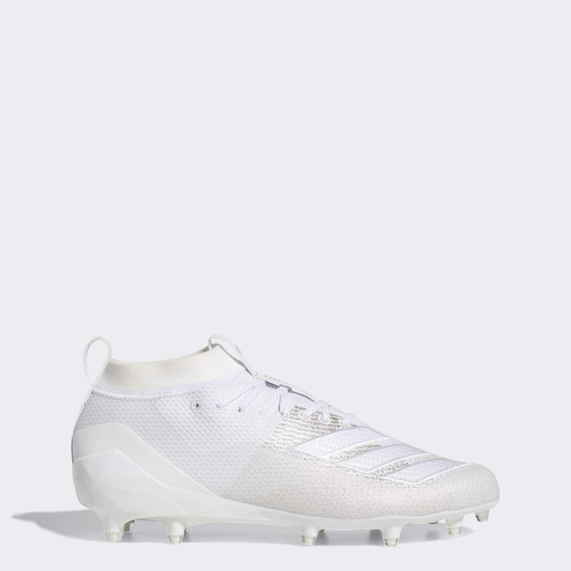 adidas Men's Adizero 8.0 Football Shoe, White, 10 M US by adidas