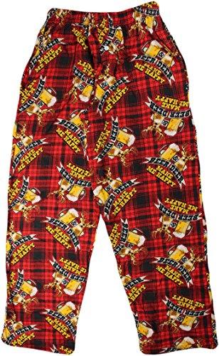 Fun Boxers Mens Hunting Fun Prints Pajama & Lounge Pants, Beer and Deer, Large