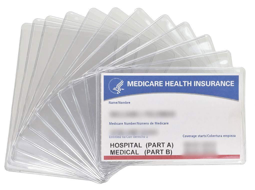Credit Card/Gift Card Holder Envelopes Sleeve Protectors Clear (New Medicare 12)