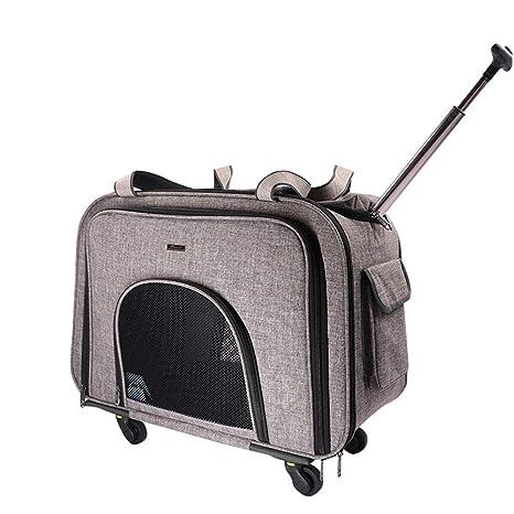 a2b7e5d5e3 Xinnegen, trasportino Portatile per Animali Domestici con Manico  telescopico, trasportino per Cani e Gatti