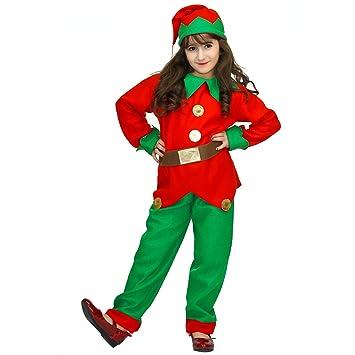 SEA HARE Disfraz de Elfo de Navidad para niña (L:10-12 años ...