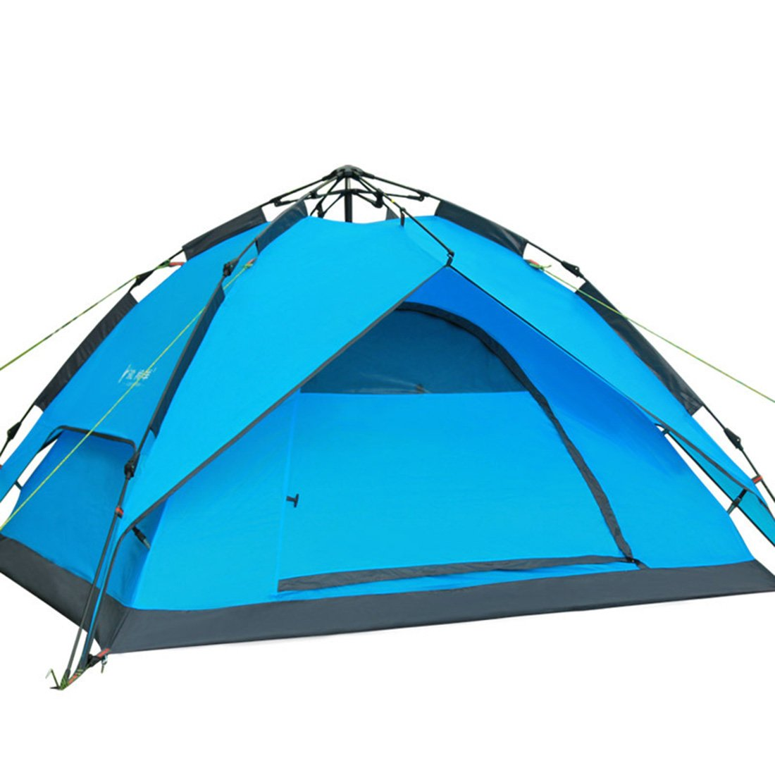 CHYIR Outdoor Camping Hydraulic Pressure Tent Rain Proof Double Layers Tent Blue