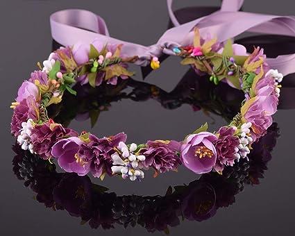 HJ-HEADBANDS, Bayas Claveles Camelia Flor Nupcial Floral ...