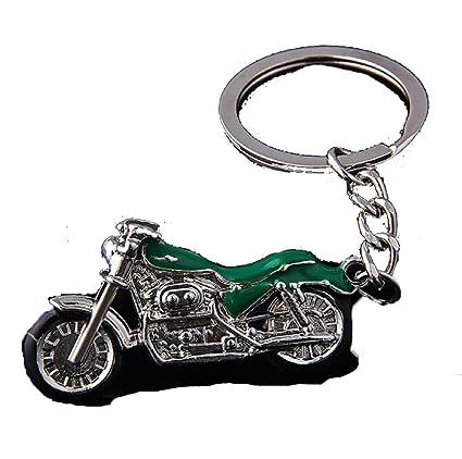 Amazon.com: Esmalte verde llavero de moto es un regalo ...