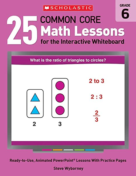 amazon com 25 common core math lessons for the interactive