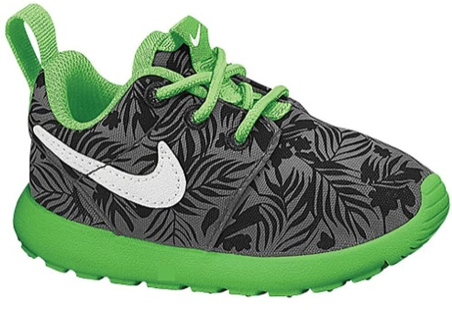 Amazon.com | NIKE Roshe One Print Toddler Boys Athletic Shoe Dark  Grey/Light Green Spark/Black/White (7) | Running