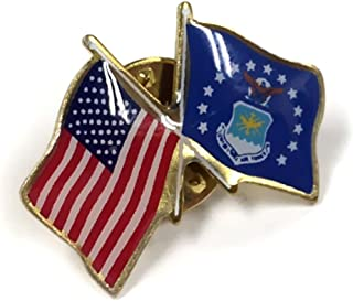 product image for Air Force crossed with American Flag Lapel Pin, Made in USA