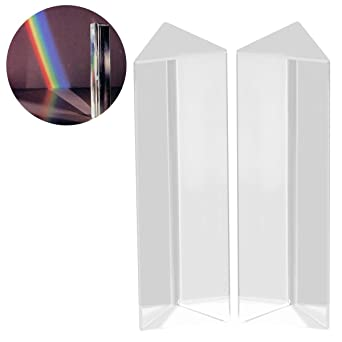 ueetek 2 pieza Cristal Vidrio óptico Prisma Triangular para ...