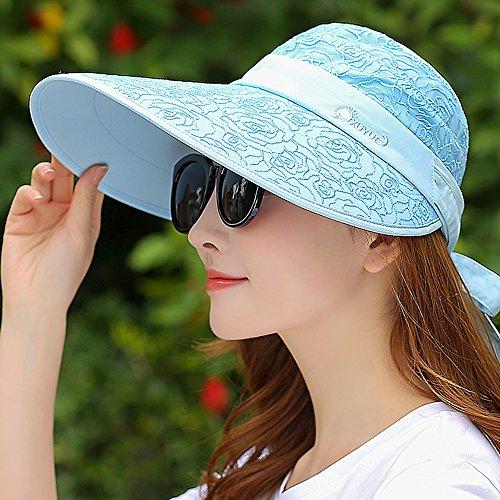 キリン熱良いGLJF 帽子女性の夏の屋外旅行サンバイザー帽子UVプロテクション空のトップサンハット (色 : C)
