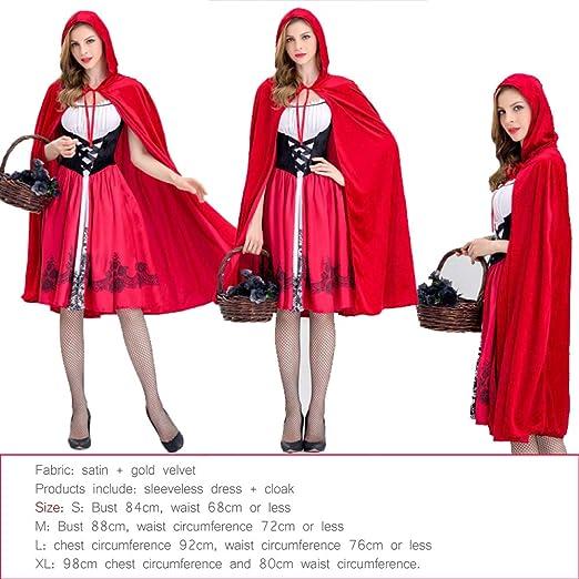 WSJYP Cos Caperucita Roja Disfraz De Princesa Disfraz Caperucita ...