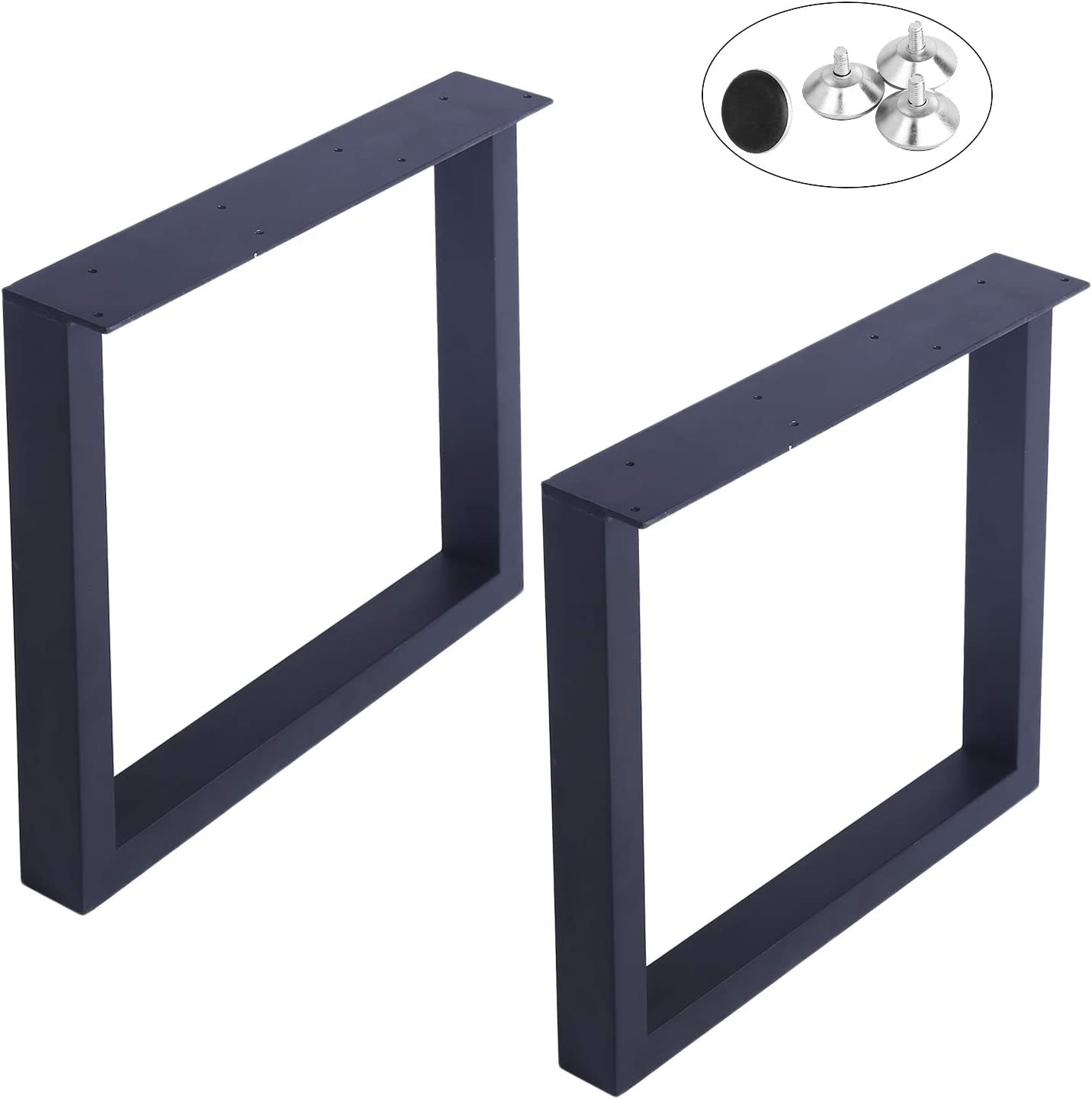 """MBQQ Furniture Legs 12.12""""Height 112.12""""Wide Rustic Decory Square Tube Table  Legs,Heavy Duty Metal Desk Legs,Dining Table Legs,Industrial Modern, DIY ..."""