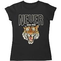 Camiseta Tigre Never mujer moda