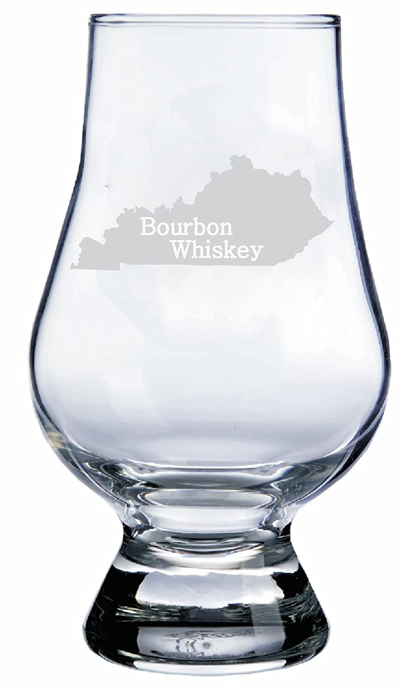 Kentucky Themed Glencairn Whisky Glass Etched Laser Art