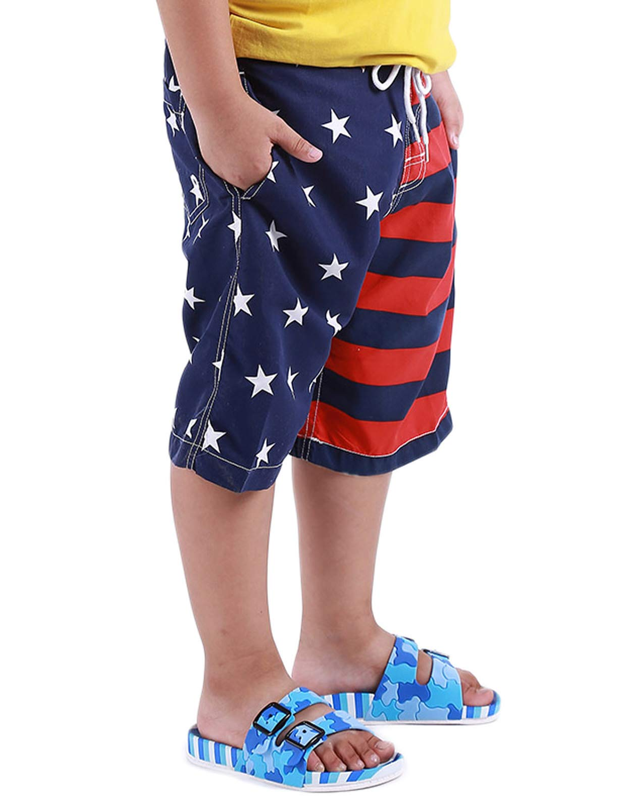 Danna Belle Boys Swim Shorts Stars and Stripes American Flag Swimming Trunk 7-8Yrs DB50-2 by Danna Belle (Image #4)