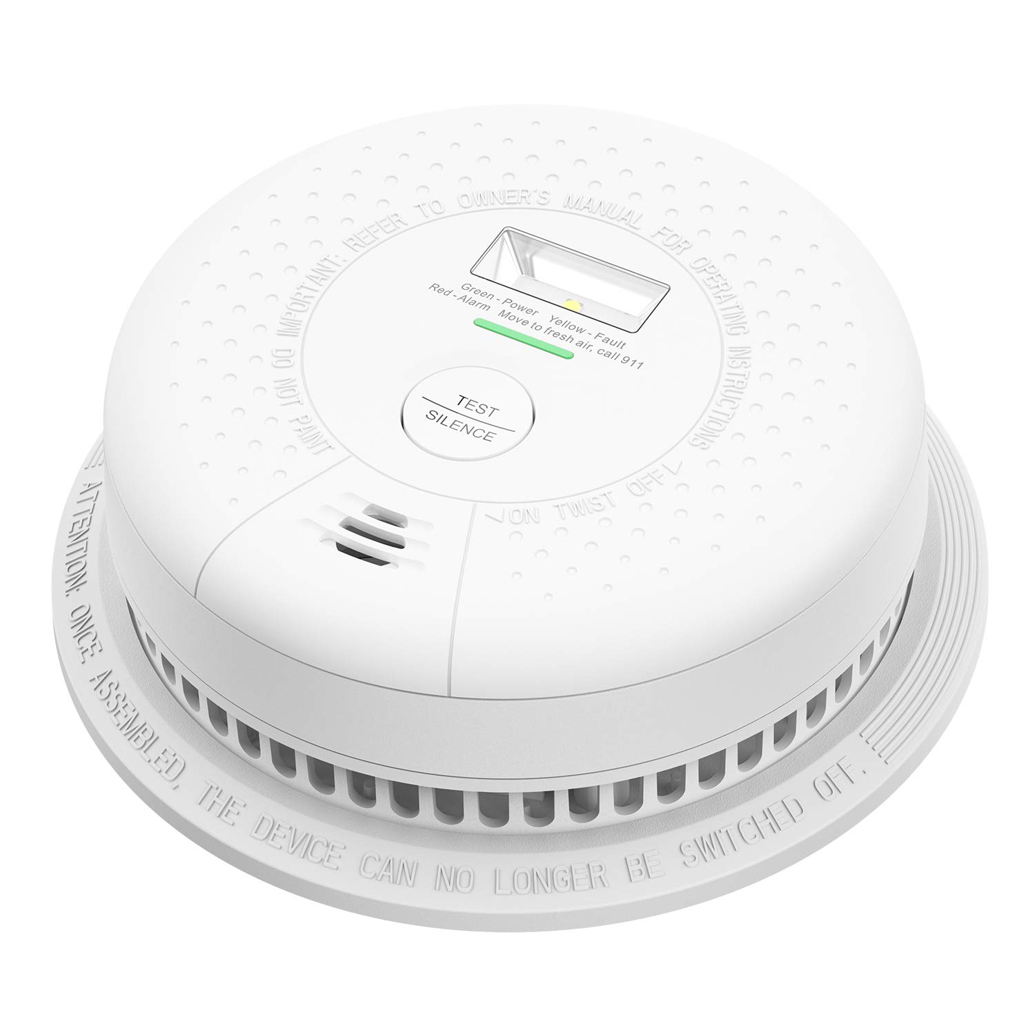 X-Sense Smoke Detector 10 Year Battery Operated, with Escape Light, UL 217 Standard Certified, Better Photoelectric Sensor for Preventing False Alarms, Wireless Installation by X-Sense