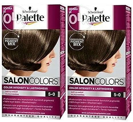 Schwarzkopf Palette Salon Couleurs Coloration Cheveux 5 0 Marron