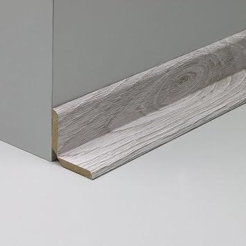 NEU! Winkelleiste Tapeten-Eckleiste Schutzwinkel Winkelprofil Abschlussleiste Abdeckleiste aus MDF in Eiche Grau Realpore 2600 x 32 x 32 mm