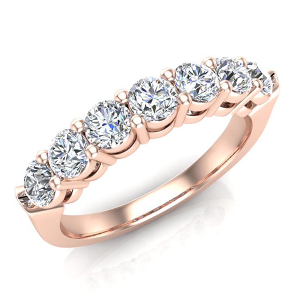 Buy Diamond Wedding Rings For Women 18k Rose Gold Wedding Bands