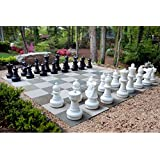MegaChess Giant Premium Chess Pieces Complete Set with 25 Inch Tall King - Black and White