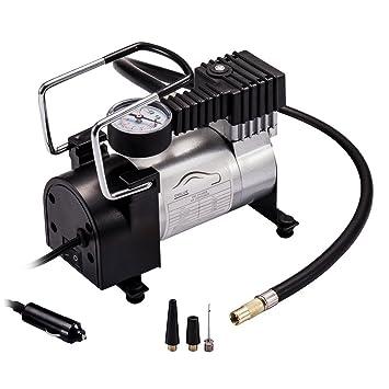 Inflador de neumáticos de coche, compresor de aire, inflador con bomba de aire portátil y medidor digital extraíble eléctrico de 12 voltios ...