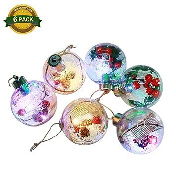 6PCS Christmas Ball Ornaments 33inch,Multi-Color Christmas Lights,Christmas  Tree Ball Lights - Amazon.com: 6PCS Christmas Ball Ornaments 33inch,Multi-Color