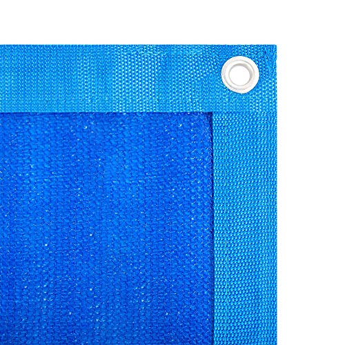 Shatex 90% Shade Fabric Sun Shade Cloth with Grommets for Pergola Cover Canopy 6' x 8', Blue (Aluminum Covers Patio Skylights With)