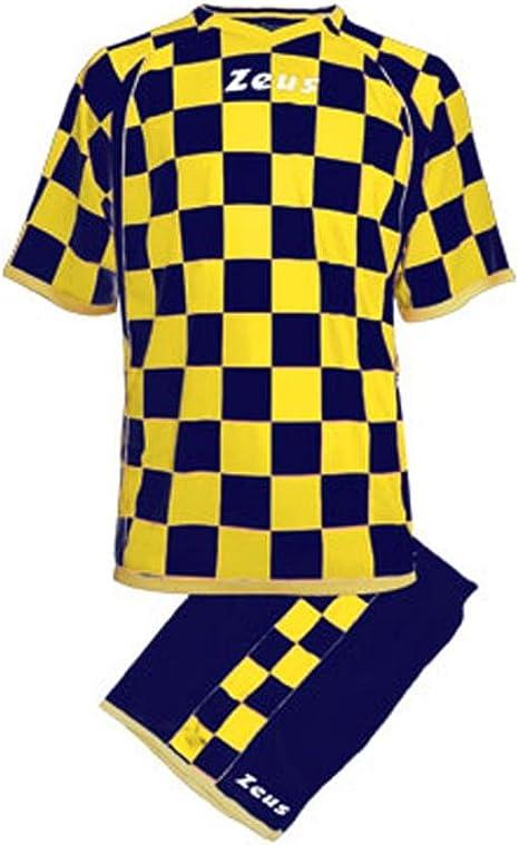 Zeus Kit KROAZIA EQUIPACION para Futbol Deporte Y AIRELIBRE Calzoncillos Y Camiseta Azul/Amarillo: Amazon.es: Deportes y aire libre