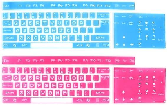 2 PC universal de la piel de silicona teclado de Cine fucsia ...