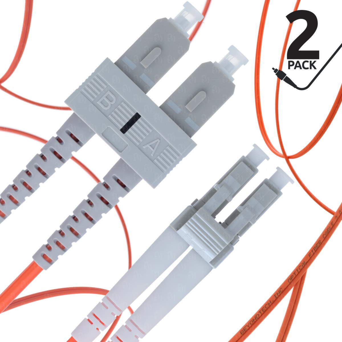 - Beyondtech PureOptics Lead Series 50//125um OM2 1 Pack LC to SC Multimode Fibre Patch Cable Duplex LSZH 20M -