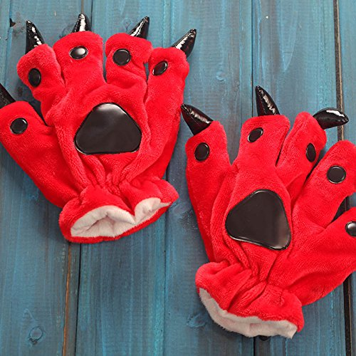 Generic Single shot is not shipped piece flannel pajamas cartoon animal paw gloves by Generic (Image #4)