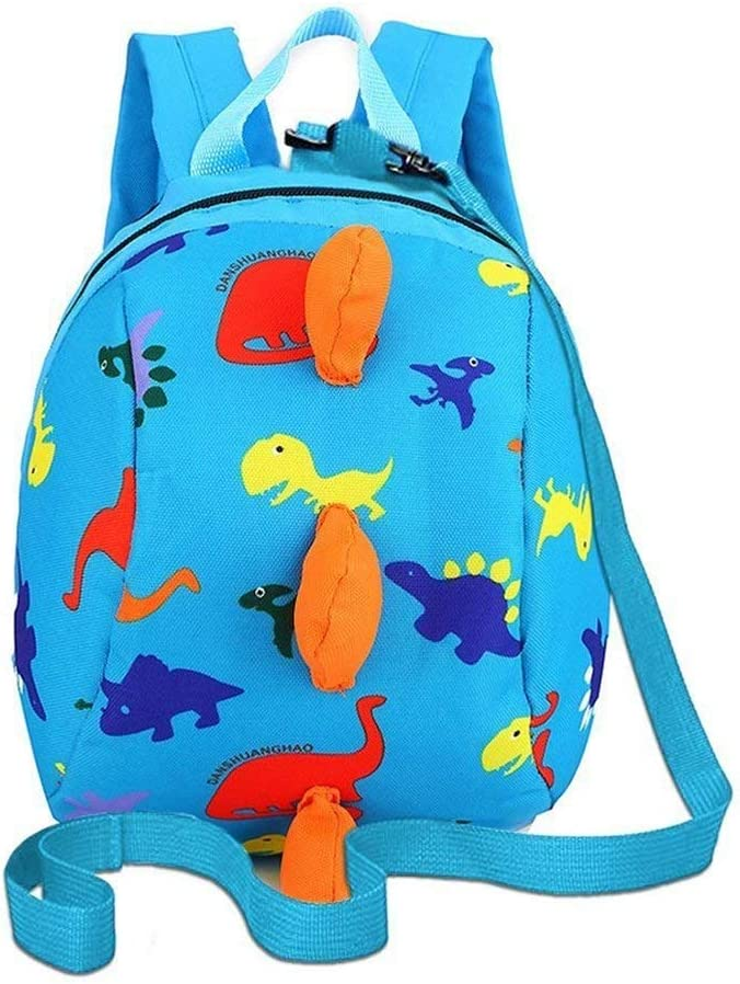 XFRJYKJ-Cartoon Backpack Kindergarten Backpack Anti-Lost Small School Bag Childrens Traction Rope Backpack Color : Blue