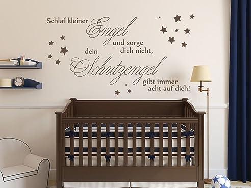 Wandtattoo Bilder® Wandtattoo Schlaf Kleiner Engel Nr 1 Kinderzimmer Babyzimmer  Wanddeko Farbe Dunkelgrau,