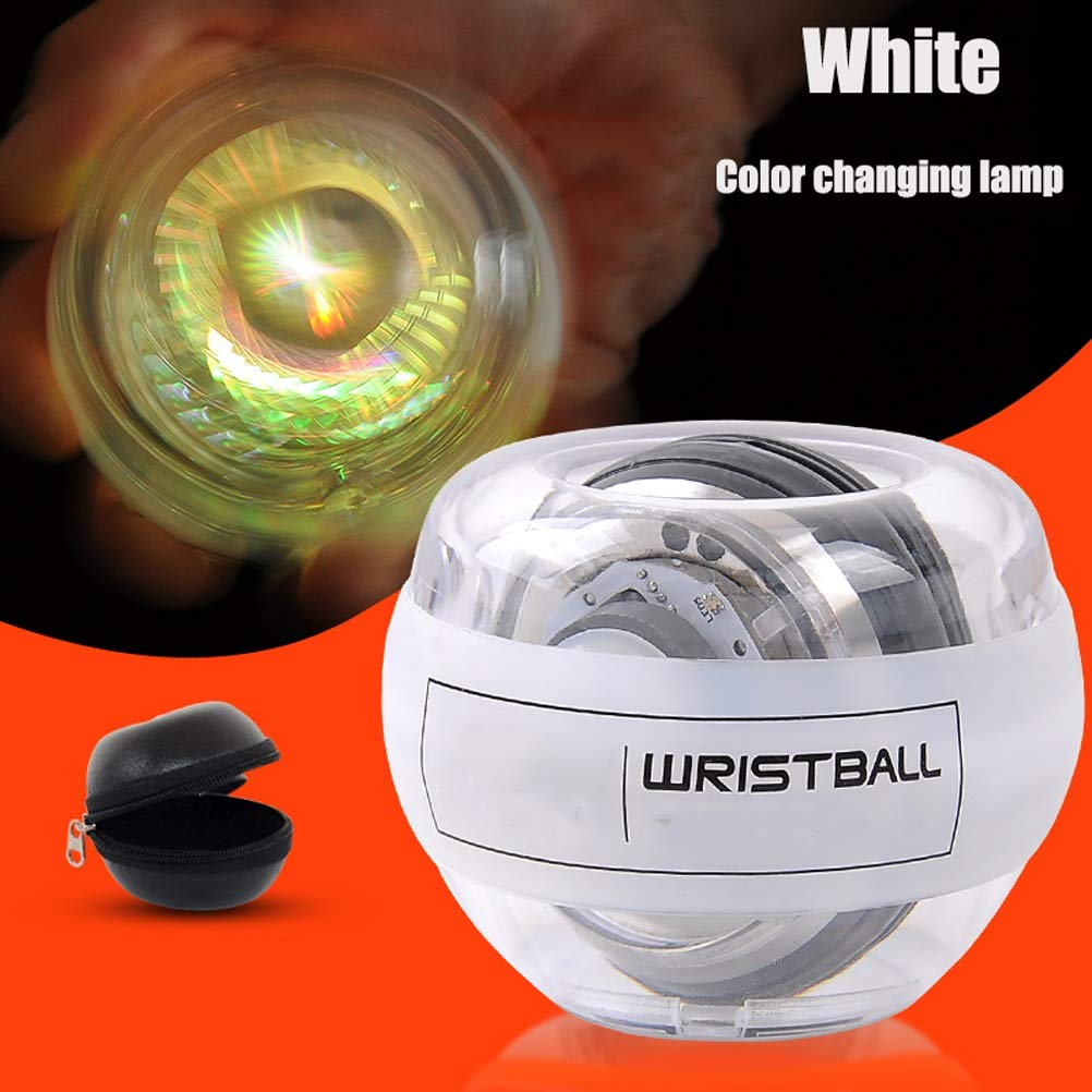 WMM - Wrist ball Supernova Models Gyroscopes - Wrist Strengthener, Grip Strengthening Gyro Ball (Color : White Colored Lights) by WMM - Wrist ball