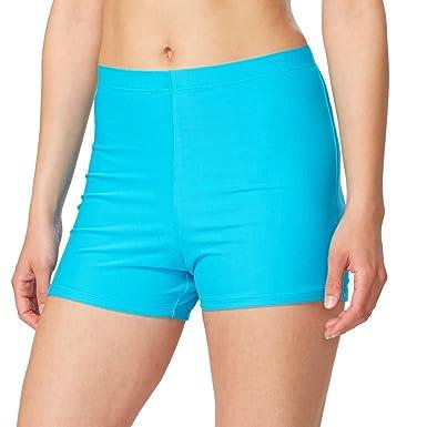 ba77c63ced Baleaf Women's Basic High Waisted Boy Short Swim Bikini Tankini Bottom with  Liner Blue Size S