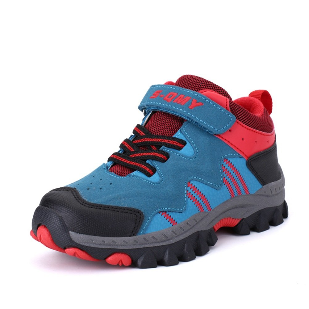 MEAYOU Boys Girls Hiking Shoes Walking Trekking Lightweight Outdoor Sneakers Kids Waterproof Breathable Boots
