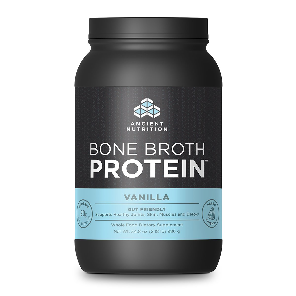 Ancient Nutrition Bone Broth Protein Powder, Vanilla Flavor, 40 Servings Size by Ancient Nutrition (Image #1)