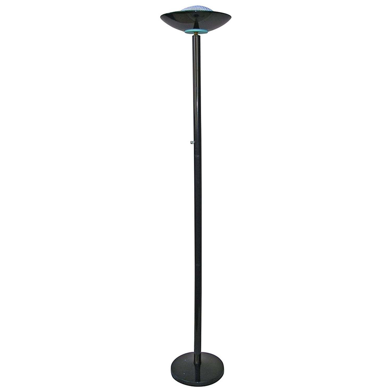 Amazon white floor lamp nursery - Ore International 3030bk 190w Halogen Torchiere Black Floor Lamps Amazon Com