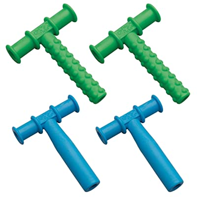 Chewy Tubes Teether Combo, 4 Pack (Blue/Green): Toys & Games