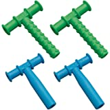 Chewy Tubes Teether Combo, 4 Pack (Blue/Green)