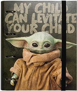 Grupo Erik Star Wars The Mandalorian - Baby Yoda 4 Ring Binder Hard Cover 26 x 32 cm, CAT0076