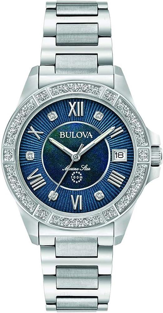 Bulova Reloj Analógico para Hombre de Cuarzo con Correa en Acero Inoxidable 96R215