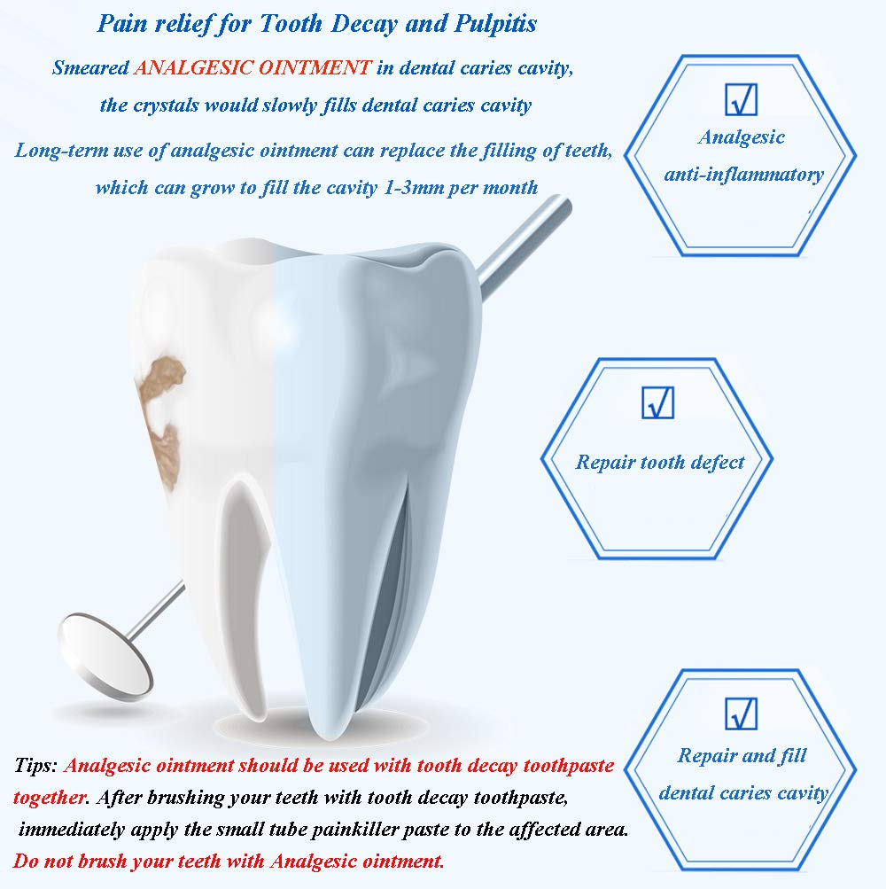CAREDO Analgesic Ointment for Tooth Decay Pulpitis Toothpaste Treatment Dental Caries for Adult, The ONLY Toothpastes to Cure Repairing Teeth Cavities: Beauty