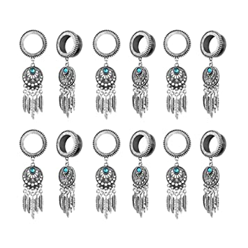 Amazon.com: SM SunniMix 6 Pairs Screw-Fit Gauges Tunnel ...