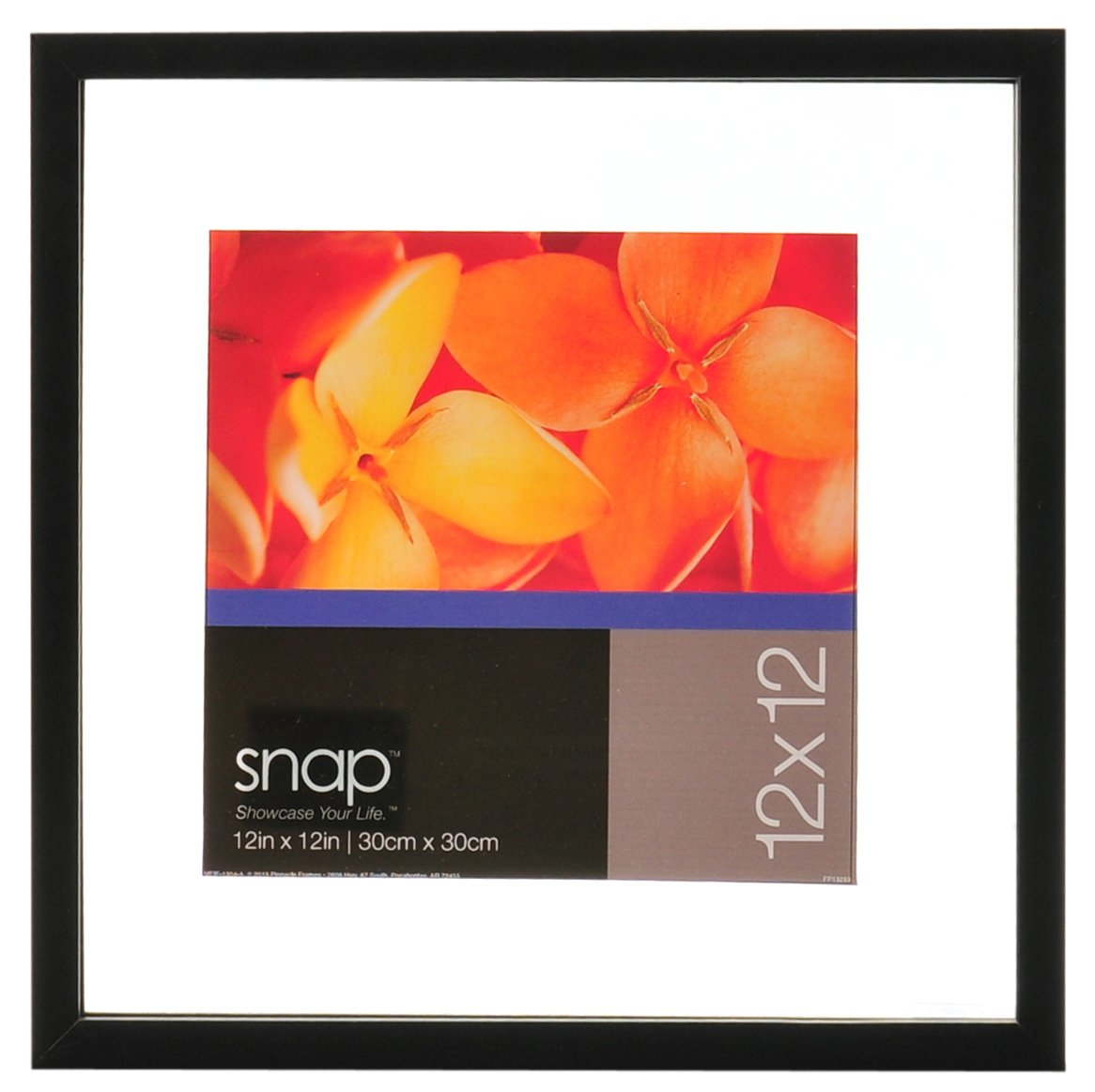 Amazon.com: Snap Wood Floating Wall Frame, 12 by 12-Inch, Black ...
