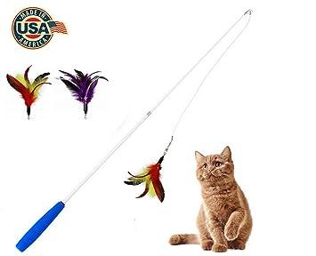 Amazon.com: Multiplumas para gatos y gatos, juguete ...