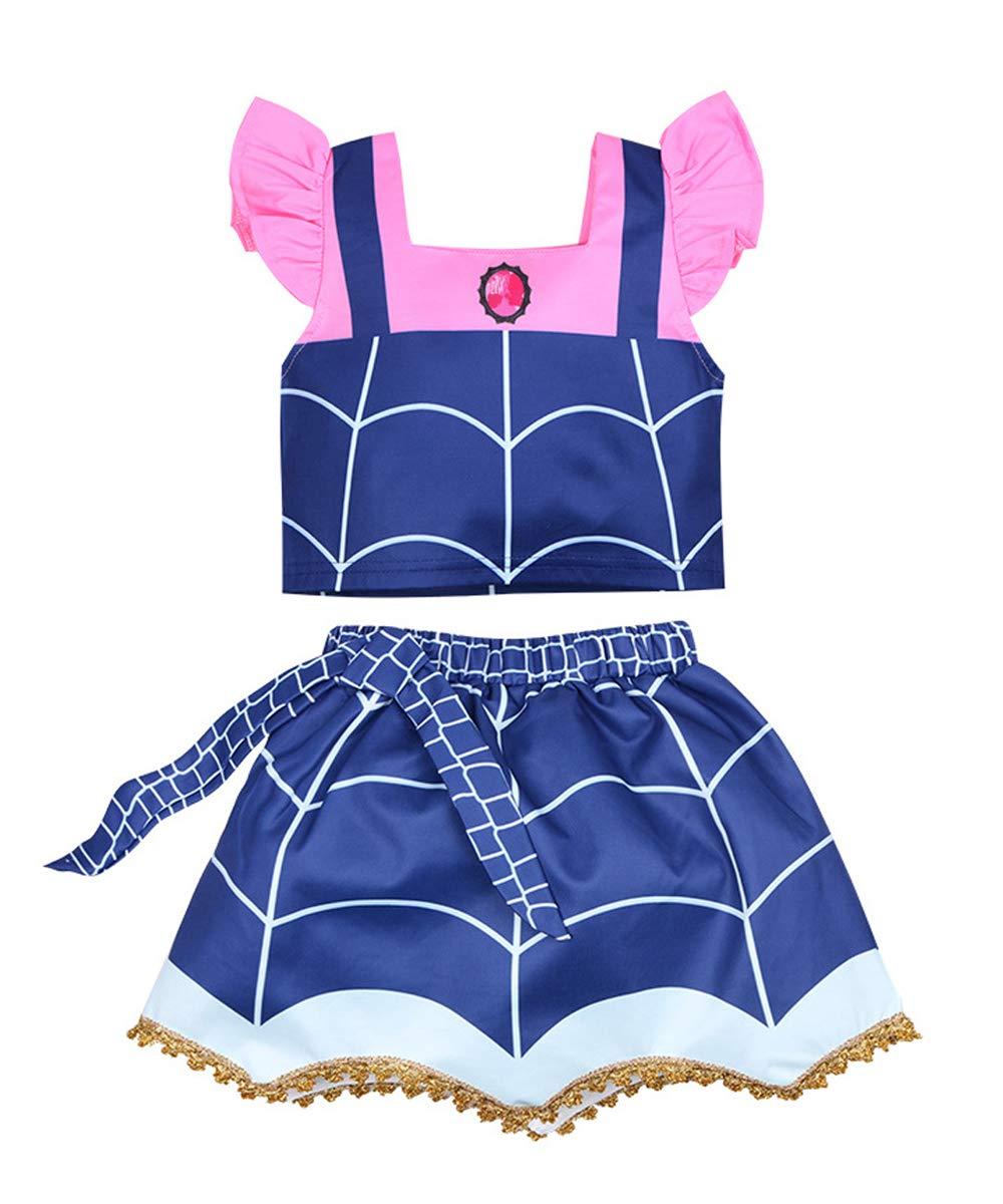 WuFun Girls Vampirina Costume Outfit Halloween Dress Up